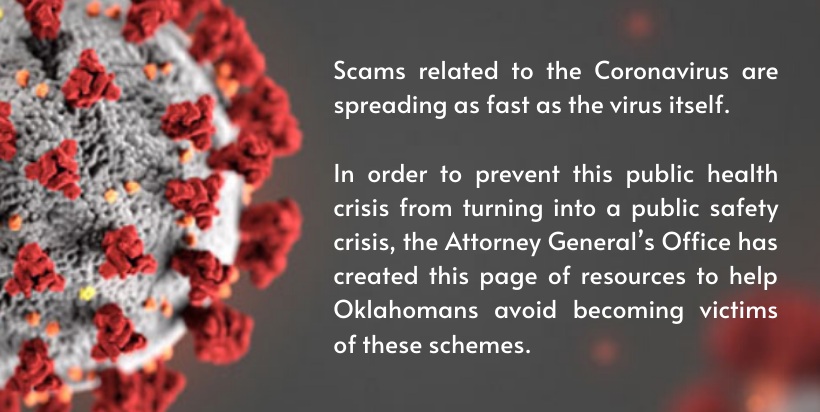 Coronavirus Fraud Resources Oklahoma Attorney General